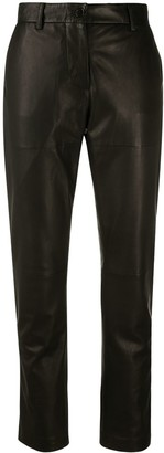P.A.R.O.S.H. Cropped Leather Trousers