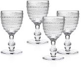 Godinger Lumina Four-Piece Beaded Glass Wine and Water Goblets