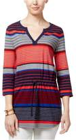 Tommy Hilfiger Womens Camilla Smocked Tunic Blouse 602 L - Juniors