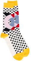 Henrik Vibskov geometric patterned socks
