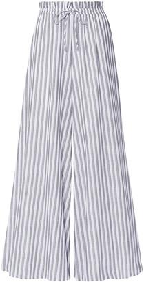 Caroline Constas Striped Cotton-voile Wide-leg Pants