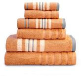 Pacific Coast Textiles Racer Stripe Bath Towels in Coral (Set of 6)