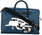 Dolce & Gabbana Mediterraneo designer's patch holdall - men - Leather/Polyester - One Size
