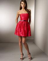 Belted Silk Taffeta Dress