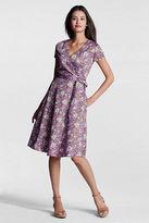 Lands' End Women's Petite Pattern Surplice Dress