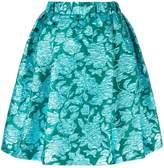 MSGM roses jacquard skirt