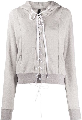 Unravel Project Lace Front Hoodie