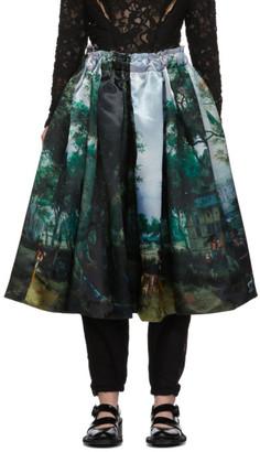 Comme des Garcons Multicolor Print Skirt