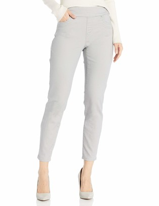 Tribal Women's Misses Super Stretch Ankle Pant-Silver 8