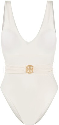 Tory Burch Logo Plaque Swimsuit
