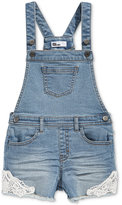 Epic Threads Denim Overall Shorts, Toddler & Little Girls (2T-6X), Only at Macy's