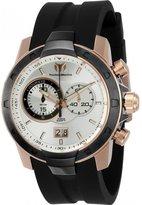 Technomarine Men's Uf6 45mm Black Silicone Band Steel Case Quartz Watch 615011