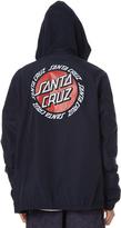 Santa Cruz Ringed Dot Mens Windbreaker Blue