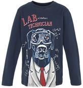 Fat Face Boys' Labrador T-Shirt, Blue