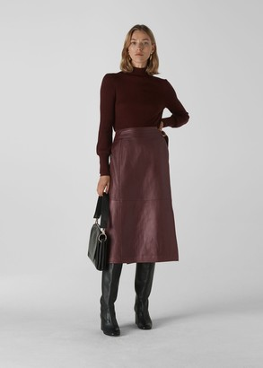 Selina Leather Wrap Skirt