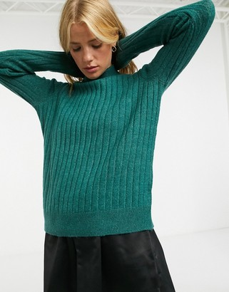 Y.A.S high neck jumper in textured knit