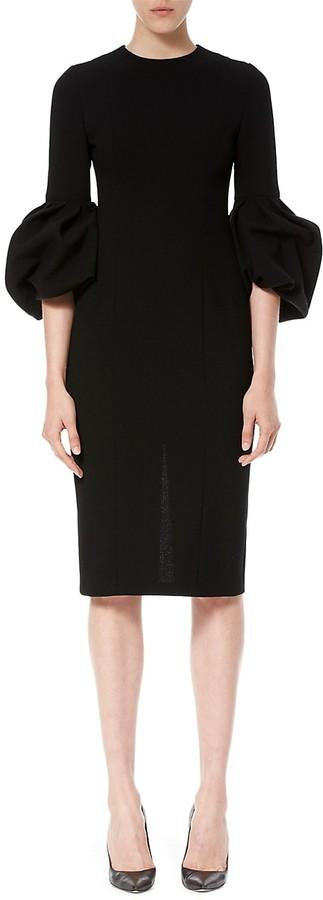Thumbnail for your product : Carolina Herrera Pleated Bell-Sleeve Dress