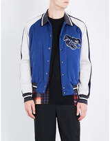 Lanvin Lobster-embroidered Satin Bomber Jacket