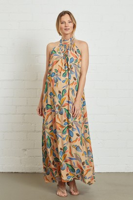 Maternity Crepe Lotus Dress