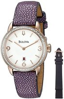 Bulova Women's 98R196 Analog Display Quartz Purple Watch