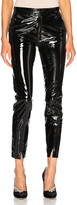 Zeynep Arcay Patent Leather Pants with Ankle Slits in Black   FWRD