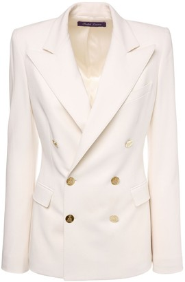Ralph Lauren Collection Wool Crepe Double Breast Camden Jacket
