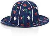 Comme des Garcons Men's Embroidered Wool Felt Hat-BLUE