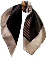 Black Geometric Military Silk Scarf