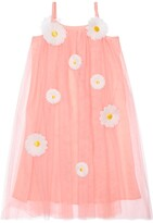 Charabia TULLE DRESS W/ DAISY APPLIQUES