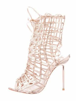 Sophia Webster Leather Gladiator Sandals Gold