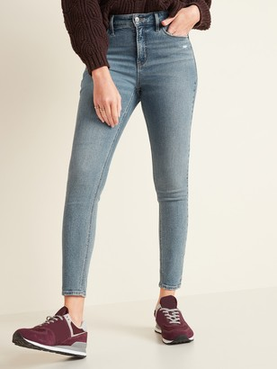 Old Navy High-Waisted Light-Wash Rockstar Super Skinny Jeans
