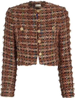 Ronny Kobo Molly Cropped Boucle Jacket