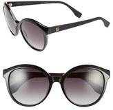 Fendi Women's 54Mm Retro Sunglasses - Black/ Matte Black