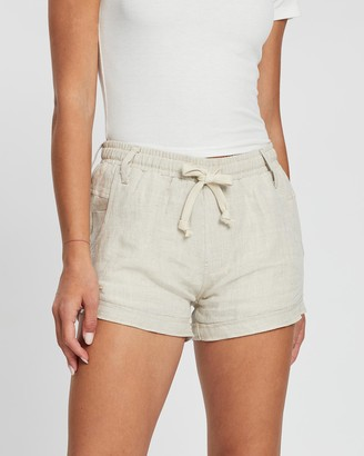 DRICOPER DENIM - Women's Nude Shorts - Firya Linen Shorts - Size One Size, 8 at The Iconic