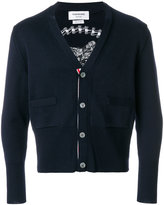 Thom Browne cat embroidered cardigan