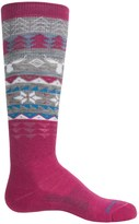Smartwool Wintersport Fair Isle Moose Socks - Merino Wool, Crew (For Little and Big Girls)