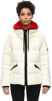 MONCLER GRENOBLE Polar Tech Recycled Faux Fur Down Jacket
