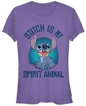 Fifth Sun Women's Disney Lilo Stitch Spirit Stitch Short Sleeve T-shirt