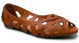 Sugar Women's Sayde Woven Peep-Toe Ballet Flats Women's Shoes