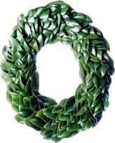 The Well Appointed House Fresh All Green Magnolia Oval Christmas Wreath