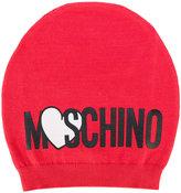 Moschino Kids logo print beanie