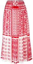 Fendi foulard-print plumetis-chiffon maxi skirt - women - Silk/Viscose - 40