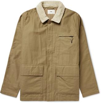 Folk Alber Fleece-Trimmed Cotton Jacket