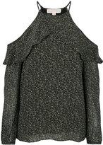 MICHAEL Michael Kors Floral Ruffled Peekaboo top - women - Polyester - L