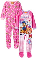 AME Paw Patrol Fleece Footed Blanket Sleepers - Set of 2 (Toddler Girls)