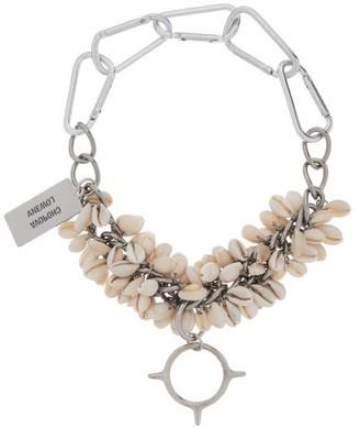 Chopova Lowena - Shell And Spike Chain Choker Necklace - Silver