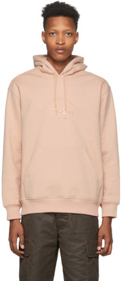 032c Pink Embroidered Logo Hoodie