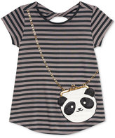 Jessica Simpson Katelyn Panda Purse-Pocket T-Shirt, Big Girls (7-16)