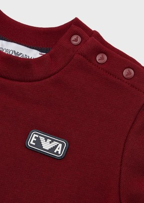 Emporio Armani Sweatshirt With Ea Micro Patch And Buttons