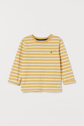 H&M Striped Jersey Shirt - Yellow